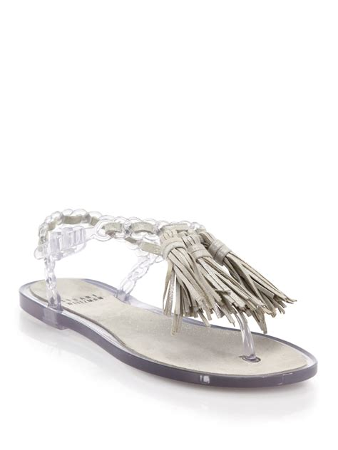 Wedges Jelly Permata Bbl501 2 lyst stuart weitzman gelati leather woven jelly sandals in gray