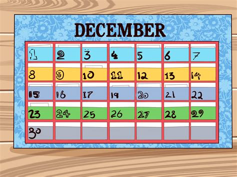 how to make a calendar free 5 ways to make a calendar wikihow