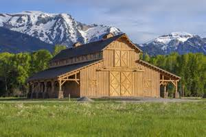 Barn Plans With Loft Apartment traditional wood barn great plains western horse barn