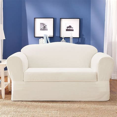 how to put on a sure fit sofa cover sure fit loveseat slipcover home furniture design