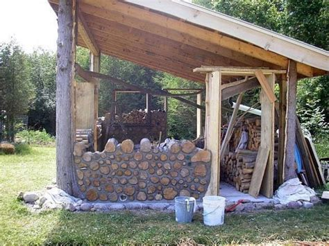 creativity  build natural cord wood home   images