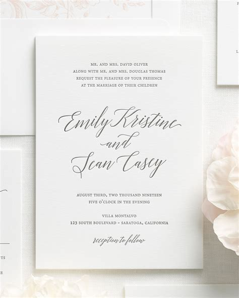 Wedding Invitations Letterpress by Garden Letterpress Wedding Invitations