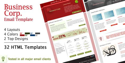 email template themeforest business corp newsletter email template by subline