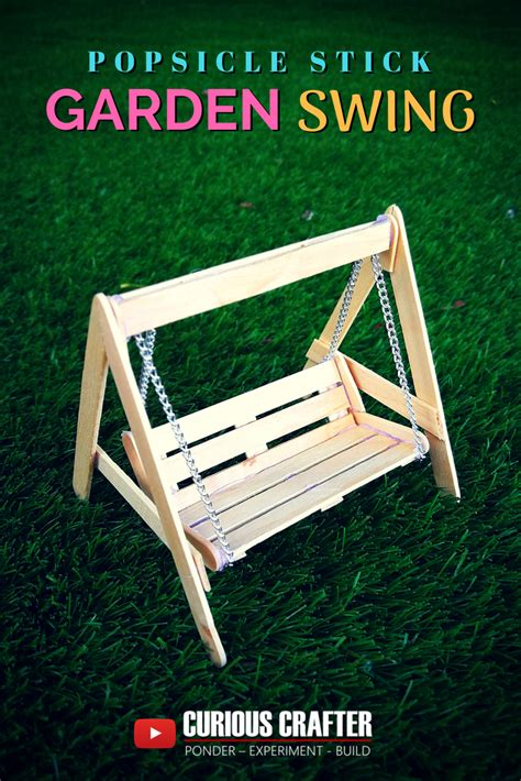 swing step popsicle stick garden bench swing step by step guide to