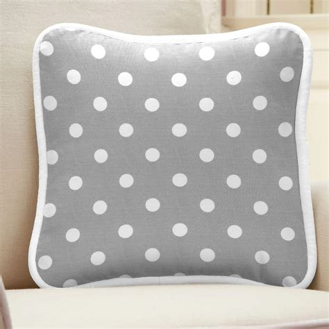 Gray And White Pillows gray and white dots and stripes decorative pillow square