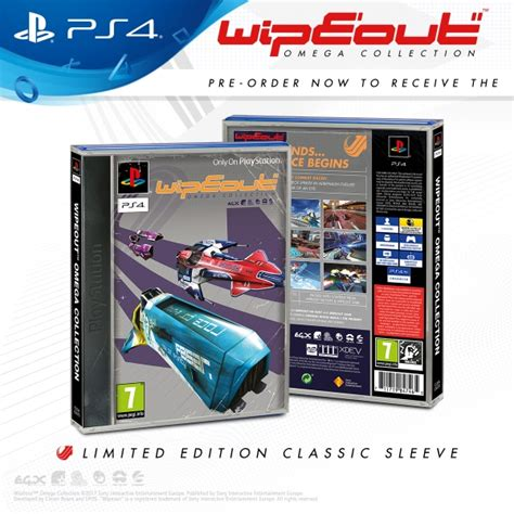 Kaset Ps4 Wipeout Omega Collection wipeout omega collection ps4 with exclusive classic sleeve ozgameshop