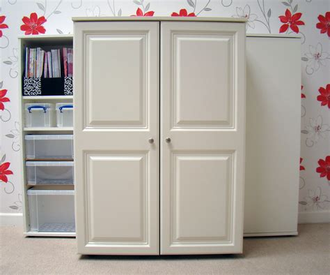 armoire sewing cabinet win a storage4crafts foldaway petite dunster sewing cabinet worth 163 995