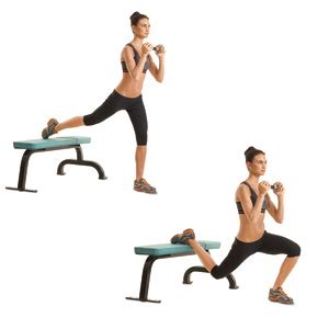 dumbbell bench lunges 8 golf exercises that will lower your score golf pros