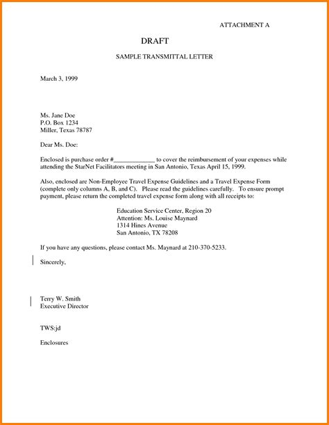 Transmittal Letter In A 7 Letter Of Transmittal Exle Cashier Resume