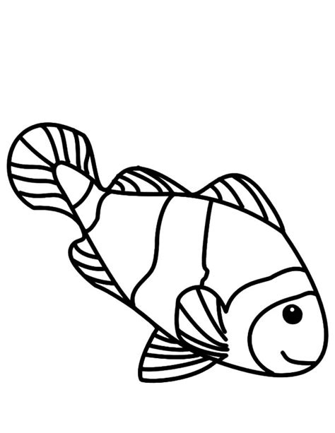 coloring pages of a clown fish freecoloring4u com