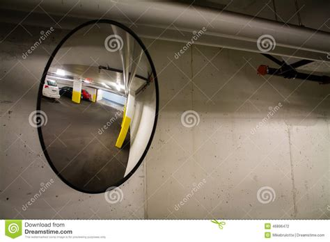 Parking Garage Mirrors by Parking Garage Mirror Stock Photo Image 46896472
