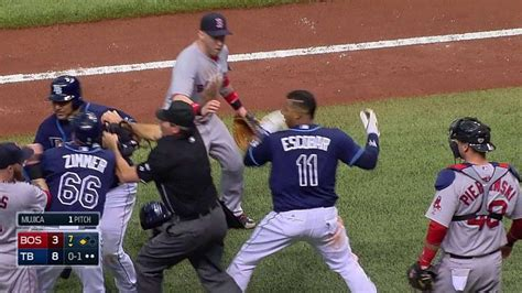 mlb benches clear three players ejected after benches clear youtube