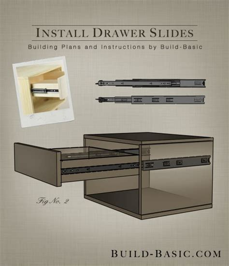 how to install kitchen cabinet drawer slides how to install drawer slides building plans by