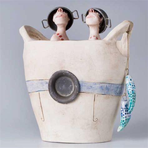 Handmade Clay Sculptures - 95 best ans vink images on sculptures ceramic