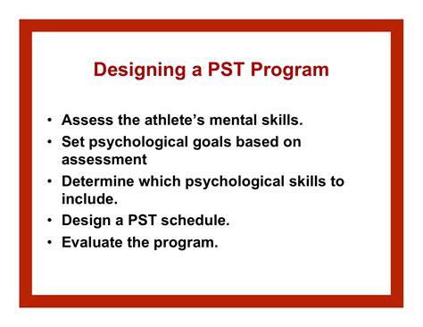 psychological skills program template pst program portfolio sport psychology goes to the
