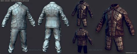 game mod jacket body armor and tactical vests digital sculpting from