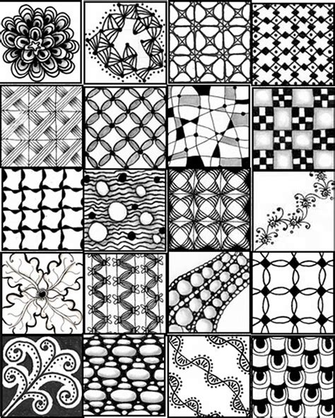 zentangle pattern sheet go craft something
