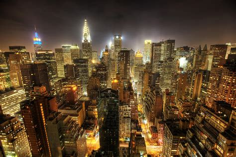 New York City Night Photograph by Shawn Everhart