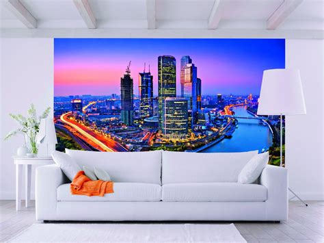 Wall Murals Superstore Moscow Twilight Wall Mural By Ideal Decor Dm125