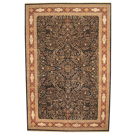 12 x 18 rugs indo knotted vegetable dye tabriz wool silk rug 12 x 18 herat rugs