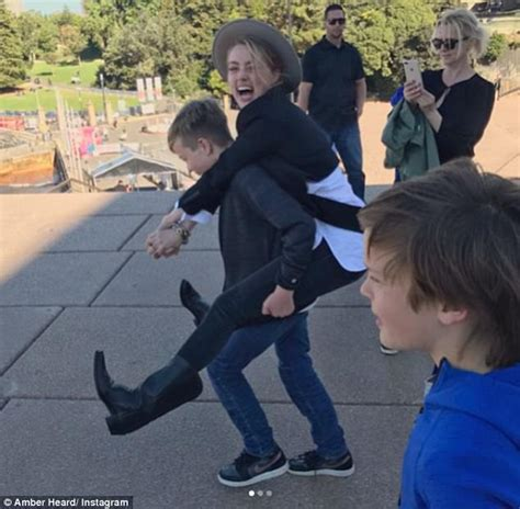 elon musk kids amber heard dotes on elon musk s children daily mail online