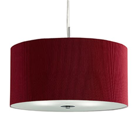 Drum L Shade With Diffuser by Drum Pleat Pendant 3 Light Pleated Shade Pendant