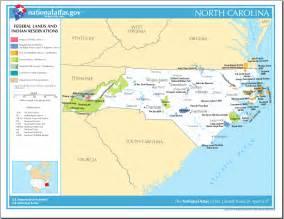 carolina lands map map of carolina map federal lands and indian