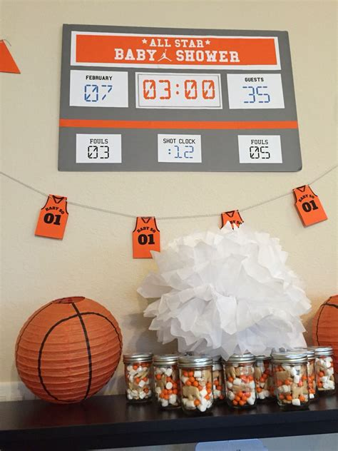 Basketball Baby Shower basketball baby shower decorations kit