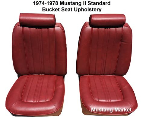 Seat Upholstery by 1974 1978 Mustang Standard Seat Upholstery