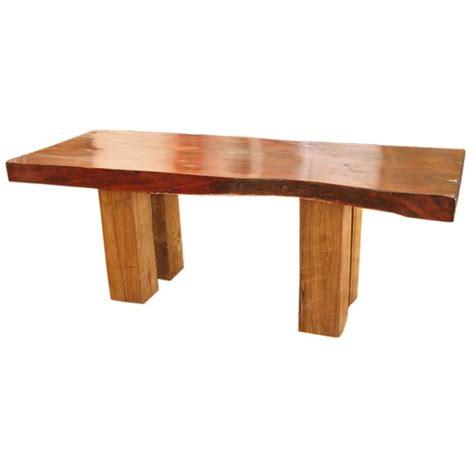 Teak Slab Dining Table An Extraordinary Teak Slab Dining Table At 1stdibs