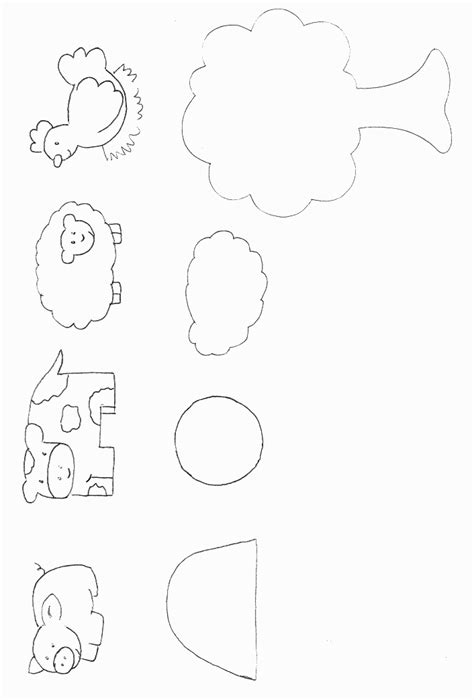 farm template animals on cycles paper plates and paper