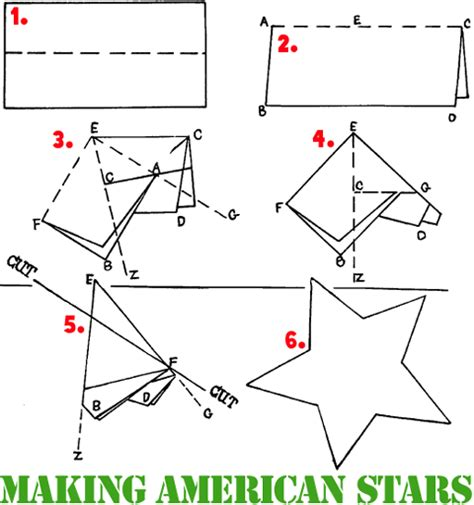 How To Make A Five Point Out Of Paper - armed forces day crafts ideas for how to make