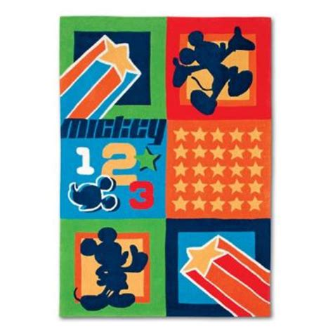 mickey mouse clubhouse rug disney mickey mouse clubhouse patchwork blue 4 ft x 6 ft area rug discontinued dymchpw46 the