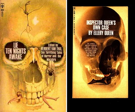 Cover Book Motif skulls on vintage book covers a frightfully overused motif