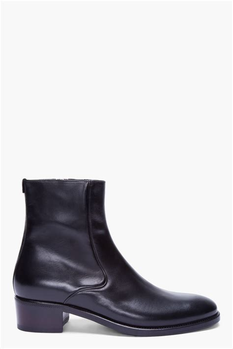 mens laurent boots laurent black leather cossack boots in black for