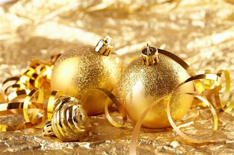 golden christmas decorations christmas photo 22230555