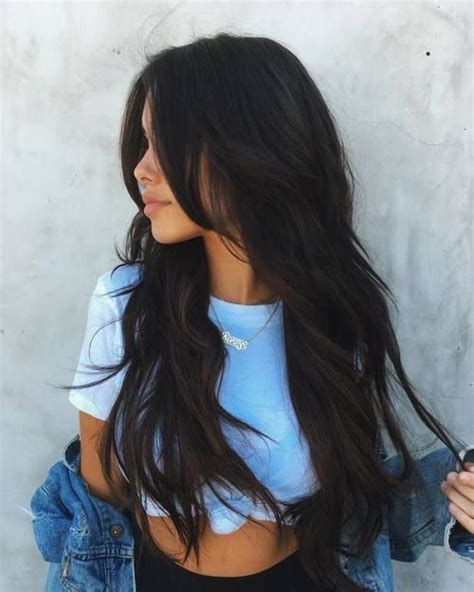long dark hair with volume pinterest best 25 long dark hair ideas on pinterest long brown