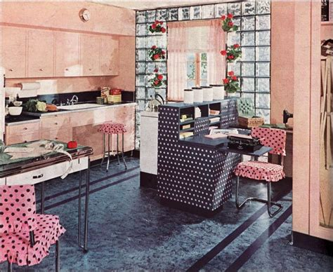 1940 kitchen design 1940 armstrong kitchen polka dot mid century style