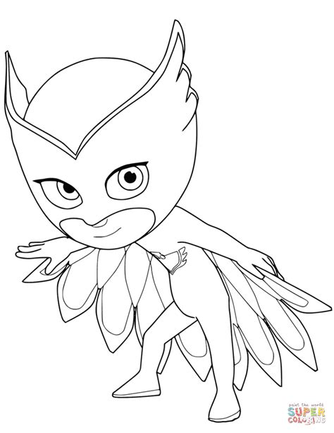pj masks gecko coloring pages owlette from pj masks coloring page free printable
