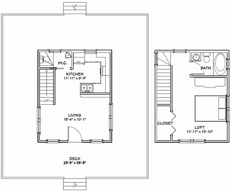 best 20 tiny house plans 20 x 20 small house plan best of 20 x 36 cabin