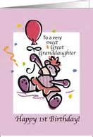 Great Granddaughter 1st Birthday Card Birthday Cards For Great Granddaughter From Greeting Card