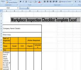 Site Inspection Checklist Template by Workplace Inspection Checklist Template Excel Microsoft