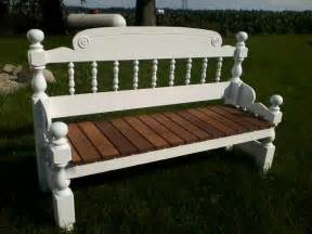 handmade repurposed headboard footboard bench re