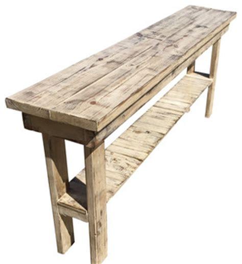 rustic farmhouse console table rustic distressed console table 84 quot farmhouse