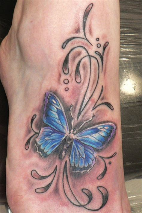 butterfly tattoo on buttocks butterfly foot tattoos