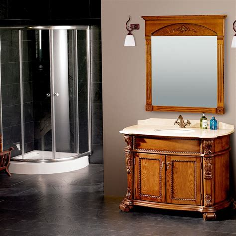 2015 new design bathroom cabinet solid wood bathroom