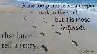 Deep footprints in the sand