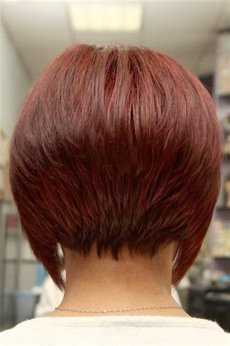 photos of the back of short angled bob haircuts short angled inverted bob hairstyles back view beauty