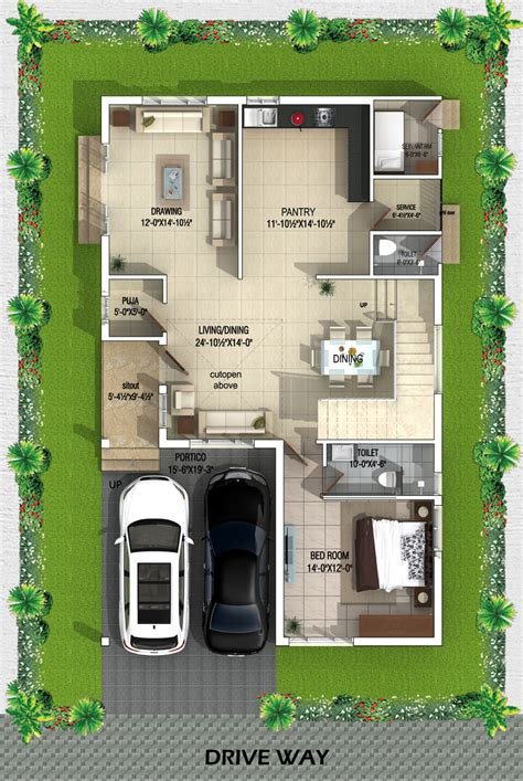 liverpool english cottage home plan 032d 0137 house plans floor plans sharma property real estate developer 40x20