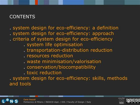 systematic layout planning definition 3 2 system design for eco efficiency vezzoli 09 10 34